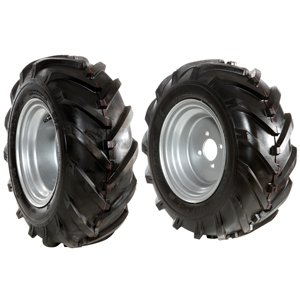 Pair of 16-6.50/8 tyred wheels - Fixed disc - 6920 9012A