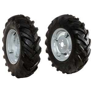 "Pair of tyred wheels 6.5/80x15"" - Adjustable disc"