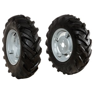 Pair of tyred wheels 6.5/80x12 - Adjustable disc - 6920 0038B