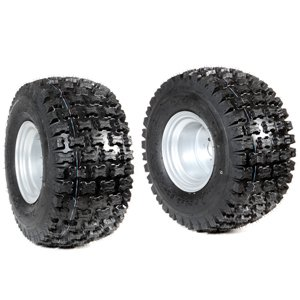Pair of tyred wheels 18-9.50/8 - Fixed disc - 6920 9104