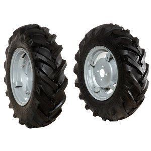 Pair of tyred wheels 6.5/80x12 - Adjustable disc - 6920 9021B