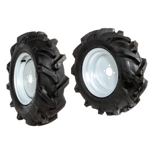 Pair of 4.00x10 tyred wheels - Fixed disc - 6920 0024