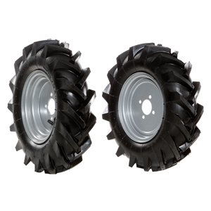 Pair of tyred wheels 4.00x8 - Fixed disc - 6950 9025B