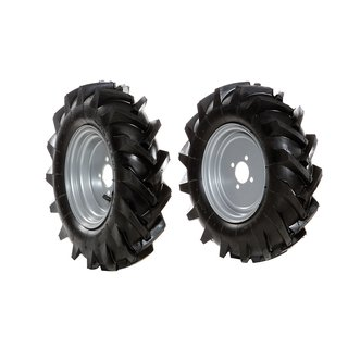 Pair of tyred wheels 4.00x10 - Fixed disc - 6950 9024A