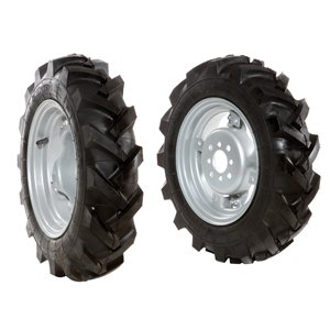 Pair of 4.00x10 tyred wheels - Adjustable disc - 6920 9004B